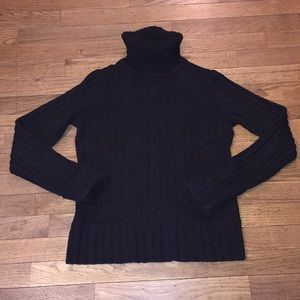 Black Cable Knit Sweater w/ Sparkle